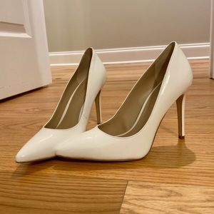 BCBG White High Heels